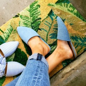 Shoes - 🚨ON SALE//The Marcy// denim blue mule flat